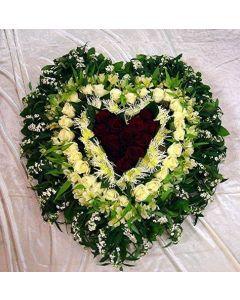 Begräbnis- Herz 4 Reihig
