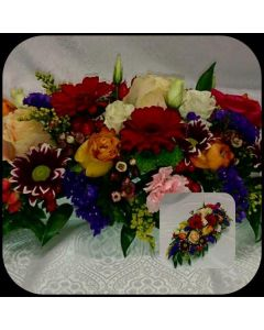 Buntes Blumen Tischgesteck